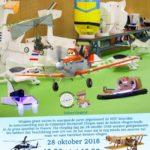 Uitnodiging indoor modelvliegrecreade 28 oktober 2018 Woerden